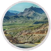 Along The Border Round Beach Towel