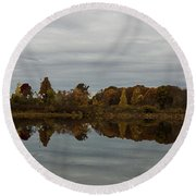 Along The Charles Round Beach Towel