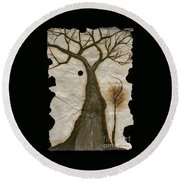 Along The Crumbling Fork In The Road Of The Tree Of Life Acfrtl Round Beach Towel