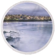 Along The Crystal Shore  Round Beach Towel