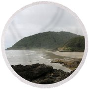 Along The Oregon Coast - 3 Round Beach Towel
