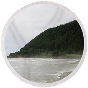 Along The Oregon Coast - 4 Round Beach Towel