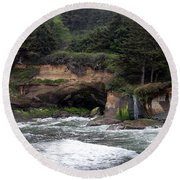 Along The Oregon Coast - 5 Round Beach Towel