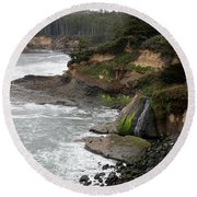 Along The Oregon Coast - 7 Round Beach Towel