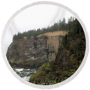 Along The Oregon Coast - 8 Round Beach Towel