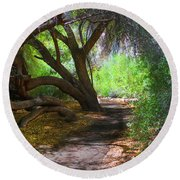 Along The Path Round Beach Towel