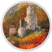 Along The Rhine I Round Beach Towel
