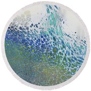 Along The Wish Filled Shore Round Beach Towel