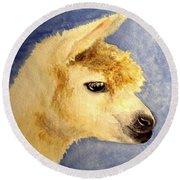 Alpaca Baby Round Beach Towel