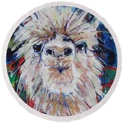 Alpaca Crazed Round Beach Towel