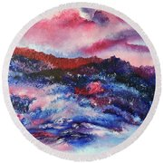 Alpenglow Round Beach Towel