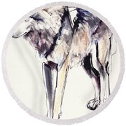 Alpha Round Beach Towel by Mark Adlington