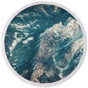 Alps From The Height Round Beach Towel