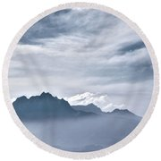 Alps Round Beach Towel