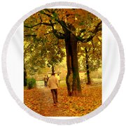 Already Autumn Round Beach Towel
