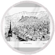 Alt Heidelberg Round Beach Towel by Masatoki Miyagi