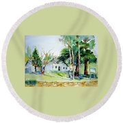 Alta/dutch Flat School Round Beach Towel