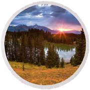 Alta Lakes Round Beach Towel