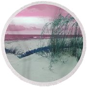 Alternate Beachscape  Round Beach Towel by Rachel Hannah