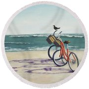 Alternate Transportation Round Beach Towel