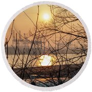 Altonaer Balkon Sunset Round Beach Towel
