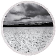 Round Beach Towel featuring the photograph Alvord Desert by Cat Connor