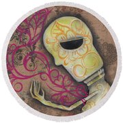 Always Alone  Round Beach Towel by Abril Andrade Griffith