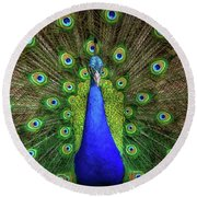 Round Beach Towel featuring the photograph Always Colorful by Elaine Malott