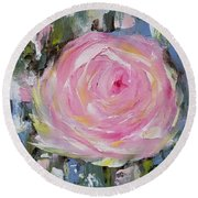 Round Beach Towel featuring the painting Always by Judith Rhue