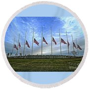 Always Remember Round Beach Towel by Luther Fine Art