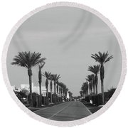 Alys Beach Entrance Round Beach Towel by Megan Cohen