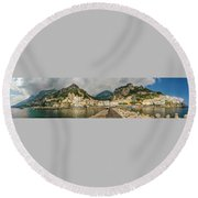 Round Beach Towel featuring the photograph Amalfi by Steven Sparks