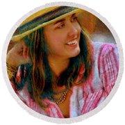 Jessica Mankin Round Beach Towel