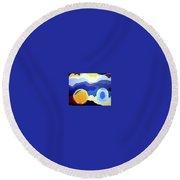 Amandas Abstract Round Beach Towel