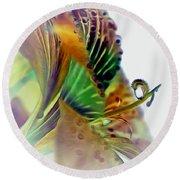 Amaryllis Butterfly Round Beach Towel
