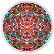 Amassed Existence Round Beach Towel