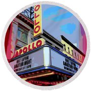 Amateur Night At The Apollo Round Beach Towel by Ed Weidman