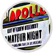 Amateur Night Round Beach Towel