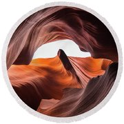 Amazing Antelope Canyon Round Beach Towel