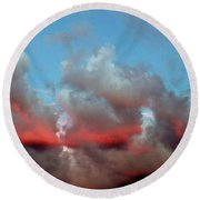Imaginary Real Clouds  Round Beach Towel