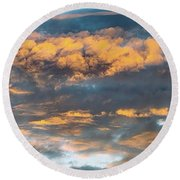 Clouds Of A Different Color Round Beach Towel