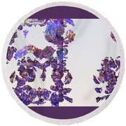 Amazing Delicate Fractal Pattern Round Beach Towel by Ernst Dittmar