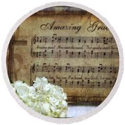 Round Beach Towel featuring the photograph Amazing Grace - Christian Home Art by Ella Kaye Dickey