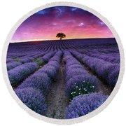 Lavender Dreams Round Beach Towel