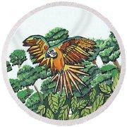 Amazon Bird Round Beach Towel