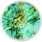 Round Beach Towel featuring the painting Amazon by Dominic Piperata