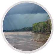 Amazonian Storm Study Number One Round Beach Towel