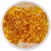 Amber #4903 Round Beach Towel