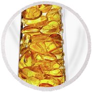 Amber #8527 Round Beach Towel