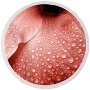 Amber Droplets Round Beach Towel